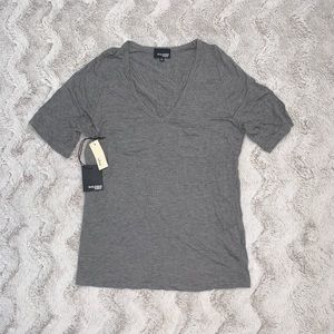 wilfred grey v-neck top